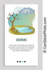 contaminación, atmósfera, reciclar, ácido, app, lluvia