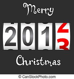 contatore, nuovo, 2013, vector., anno