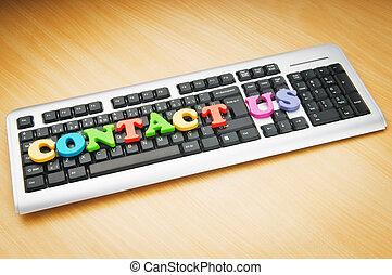 contattarci, concetto, con, lettere, su, tastiera