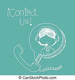 contattarci, disegno