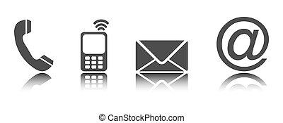 contattarci, -, icone, 02