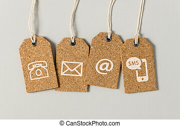contattarci, icone