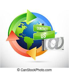 contattarci, posta, ciclo, segno, illustrazione