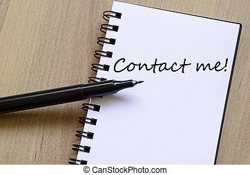 contatto, testo, concetto, me