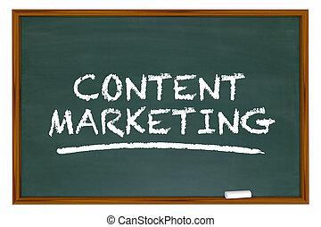 conteúdo, aprendizagem, marketing, ilustração, junta giz, palavras, 3d