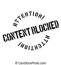 conteúdo, borracha, bloqueado, selo
