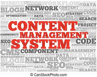 conteúdo, gerência, cms, sistema