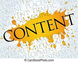 conteúdo, nuvem, palavra