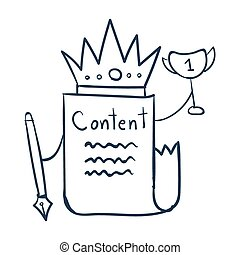 conteúdo, rei