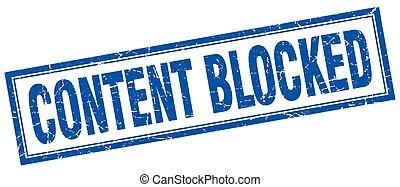 conteúdo, selo, quadrado, bloqueado