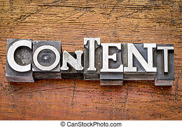 conteúdo, tipo, metal, palavra