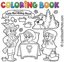 conte, coloration, 1, thème, livre, fée