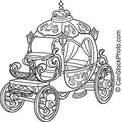 conte, fée, cendrillon, voiture, citrouille