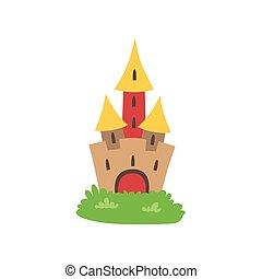 conte fées, château, dessin