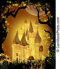 conte fées, château