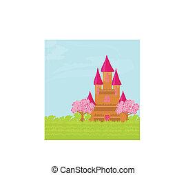 conte fées, magie, princesse, château