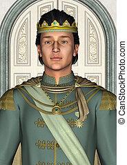 conte fées, prince, palais