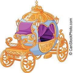 conte fées, voiture, cendrillon