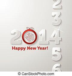 conteggio, 2014, anno, felice anno nuovo