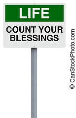 conteggio, benedizioni, tuo
