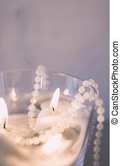 conteggio, -, luci, benedizioni, candela, vacanza, tuo