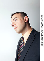 Contemplative Business Man Thinking