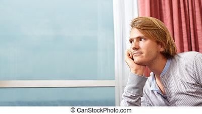 contempler, homme