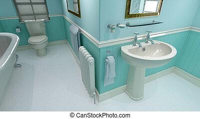 contemporâneo, banheiro
