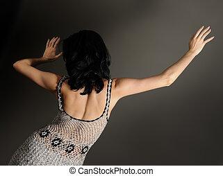 contemporâneo, dançarino