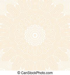 contemporâneo, doily, redondo, renda, padrão floral