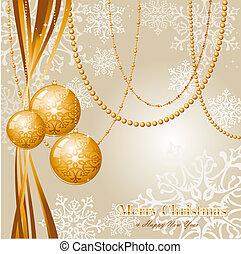 contemporâneo, feliz natal, fundo, eps10, vetorial, file.