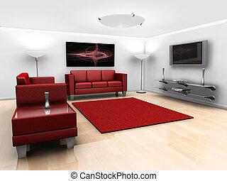 contemporâneo, lounge