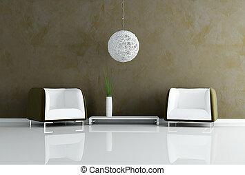 contemporâneo, marrom, sala de estar