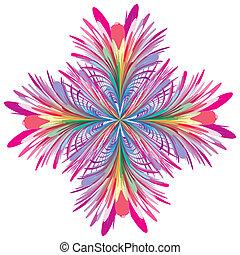 contemporâneo, vetorial, flor