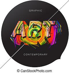 contemporain, art, résumé, fond