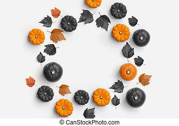 contemporain, automne, cercle, composition