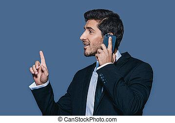 contemporain, communications affaires