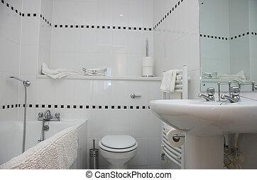contemporain, salle bains