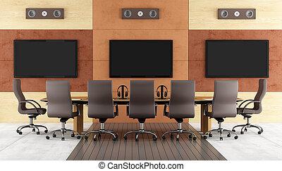 contemporain, salle, conférence