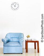 contemporain, salle de séjour, intérieur