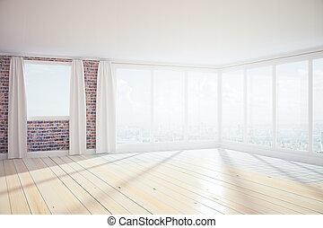contemporain, spacieux, intérieur