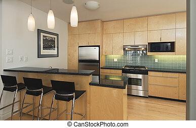 contemporaneo moderno, cucina