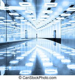 Contemporary airport terminal hall. - Contemporary...
