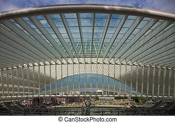Liege-Guillemins railway - Contemporary and futuristic Liege...