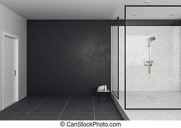 Contemporary bathroom with copy space
