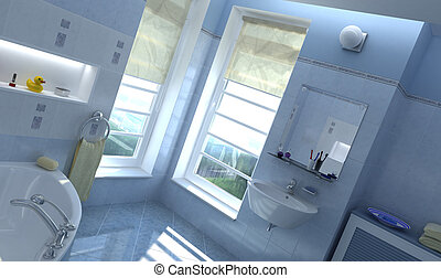 Contemporary bathroom.