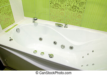 contemporary bathtub with hydromassage