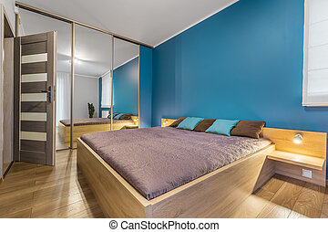 Contemporary bedroom with king size bed idea
