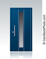contemporary blue vector front door