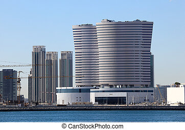 Contemporary buildings in Abu Dhabi downtown, United Arab Emirates